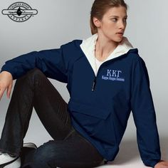 Custom Greek Clothing and Apparel. Sorority jackets with custom embroidery. Add this piece to your greek clothing collection today with Something Greek and save money. Alpha Xi Delta, Sigma Lambda Gamma, Alpha Chi Omega, Delta Gamma, Custom Greek Apparel, Charles River, Sorority Outfits, Greek Clothing, Embroidered Clothes