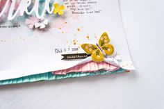 "Citrus Twist Kits: to Inspire"" with Nathalie Desousa Scrapbook Paper Crafts, Scrapbook Cards, Paper Crafting, Mixed Media Scrapbooking, Scrapbooking Layouts, Hip Kit Club, Scrapbook Storage, Creative Pictures, Happy B Day"