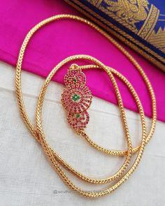 Thaali mugappu Gold Chain Design, Gold Jewellery Design, Gold Jewelry, Gold Necklace Simple, Necklace Set, Gold Pendant, Pendant Jewelry, India Jewelry, Beautiful Necklaces