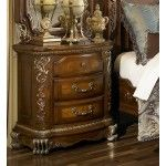 $869.00  AICO Furniture - Venetian II Nightstand in Honey Walnut - AI-N68040-28