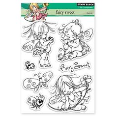 Thisadorableclear stamp setis calledFairy Sweetand is part of the