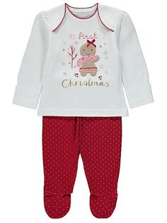 My First Christmas Pyjamas, read reviews and buy online at George at ASDA. Shop from our latest range in Baby. Make their first Christmas even more special w...