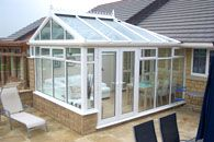 Ultraframe Classic gable conservatory. Ultraframe Classic Conservatory Roofing System is flexible to cope with any roof design and configuration