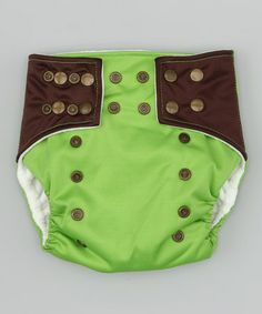 Take a look at this Green & Brown Pocket Diaper by Lotus Bumz on #zulily today!