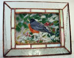 Stained Glass Picture Frame Mother of Pearl Border by mnflash, $15.00