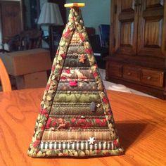 Lighted Fabric Christmas Tree by KrasoskisKrafts on Etsy