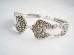 Spoon Bracelet  Silverware Jewelry Antique by monpetitchouboutique