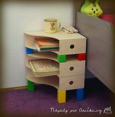 Hravý noční stolek aneb ikea hacking - Frisky bedside table from magazine files