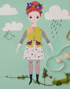 FLORENCIA | Un Kit de muñeca de papel