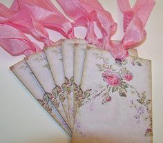 Rose Floral Tags  Wish Tags  Wedding  Bridal by TheNestinSLT, $6.00