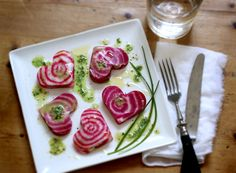 Heart Beet Rawvioli with Pesto Oil by mynewroots #Beets #Rawvioli #mynewroots
