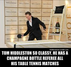 Ha! #TomHiddleston now that's classy :) stay classy Tom!