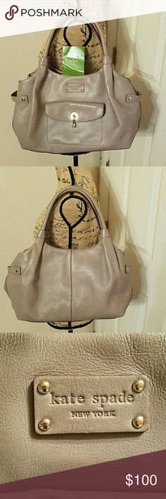 AUTHENTIC KATE SPADE HOBO PURSE Gray kate spade purse, minor discoloration inside handles and on 4 bottom corners of purse(look at pictures for reference), other than that, no rips, tear and stains inside and out . feel free to ask questions kate spade Bags