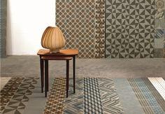 Glazed stoneware wall/floor tiles AZULEJ GRIGIO FLORES AZULEJ Collection by MUTINA | design Patricia Urquiola