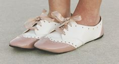 pastel oxfords with lace shoe ties
