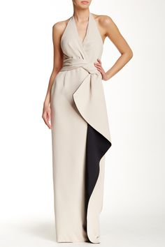 Faux Wrap Evening Gown by Halston Heritage on @HauteLook