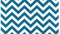 Premier Drucke Teal blau Chevron Stoff Indoor von MyaCdesign