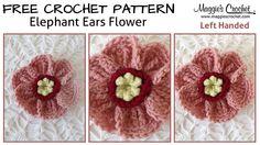 Elephant Ears Free Crochet Pattern - Right Handed. Shop worsted weight yarn here: . Elephant Ear Flower, Elephant Ears, Unique Crochet, Easy Crochet, Free Crochet, Tutorial Crochet, Crochet Designs, Crochet Patterns, Flower Patterns