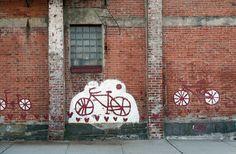 bicycle street art.