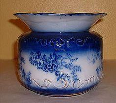 "La Belle"" Flow Blue Ladies Spittoon 1893-1910"