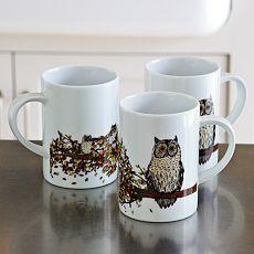 Owl Mug – Autumn Branch