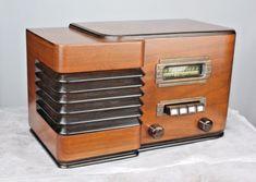 STEWART WARNER MODEL 91-512 ART DECO INGRAHAM WOOD CABINET 1930's RADIO WORKING   eBay