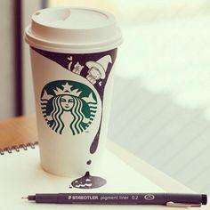 Starbucks-Zeichnungen: Tomoko Shintani