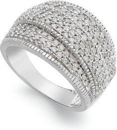 Wrapped in LoveTM Diamond (1 ct. t.w.) Pave Crossover Ring in Sterling Silver on shopstyle.co.uk