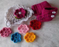 Set Gorra con flores y Botas