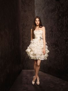 White by Vera Wang ~ 2013 Collection~Adore Weddings ~ short wedding dress #wedding dress