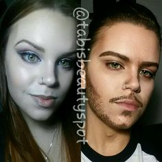 Girl to boy makeup transformation by @tabisbeautyspot