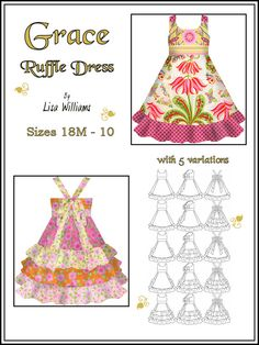 Grace Ruffle Dress  DIY Tutorial PDF eBook by funktionalthreads, $9.95