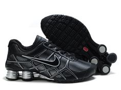 Wholesale Nike Shox Roadster 12 Leather Men Black Gray Running Shoes