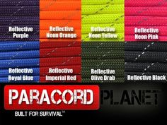 Paracord Planet Reflective Paracord Made of 100 Nylon With 7 Innercore Strands Available In 10 25 50 and 100 Foot Lengths That is Made in the USA ** Be sure to check out this awesome product.