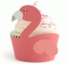 Silhouette Design Store - View Design #84281: flamingo cupcake wrapper