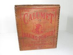 Calumet Baking Powder Wooden Crate @GirlPickers on Etsy #giftidea