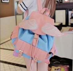 Fashion kawaii wings backpack