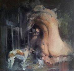 """Saatchi Art Artist Liviu Mihai; Painting, """"Behind"""" #art"""