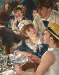 """Luncheon of the Boating Party"", detail, by Renoir ▓█▓▒░▒▓█▓▒░▒▓█▓▒░▒▓█▓ Gᴀʙʏ﹣Fᴇ́ᴇʀɪᴇ ﹕ Bɪᴊᴏᴜx ᴀ̀ ᴛʜᴇ̀ᴍᴇs ☞ http://www.alittlemarket.com/boutique/gaby_feerie-132444.html ▓█▓▒░▒▓█▓▒░▒▓█▓▒░▒▓█▓"