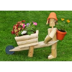 Our Flowerpot Men garden ornament characters are handcrafted by Flower Pot Garden Gifts of Kent. Wooden Garden Ornaments, Wooden Garden Planters, Wood Log Crafts, Christmas Wood Crafts, Flower Pot People, Landscape Timbers, Modern Plant Stand, Wooden Flowers, Garden In The Woods