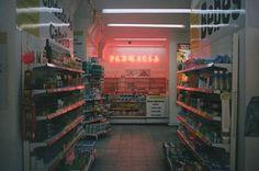 grunge, aesthetic, and neon image Neon Licht, Photo Portrait, Retro Aesthetic, Gas Station, Vaporwave, Mexico City, Dark Fantasy, Hana, Film Photography