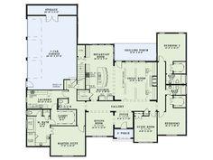First Floor Plan of Craftsman European House Plan the plan not the facade of the house. The Plan, How To Plan, Plan Plan, Dream House Plans, House Floor Plans, My Dream Home, Open Floor Plans, Ranch Floor Plans, Single Level Floor Plans