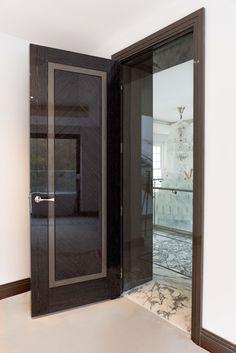 ideas main door design black for 2019 Door Design Interior, Main Door Design, Front Door Design, Window Design, Interior Exterior, Single Door Design, Modern Exterior Doors, Modern Door, Kitchen Door Designs
