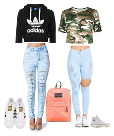 """""""Back to school outfits"""" by katelynn-lyall on Polyvore featuring Topshop, Converse and adidas Originals"""