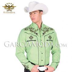 Camisa Charra El General Western Wear #ropavaquera #grupero #norteño #westernwear #cowboy #charro Western Shirts, Western Wear, Chemises Country, Cow Boys, Aztec Art, Charro, Jean Shirts, Grinch, Jeans