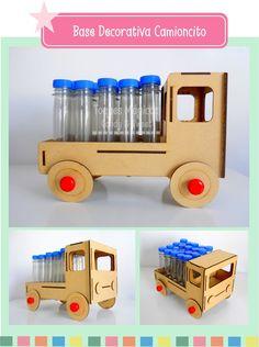souvenirs base soporte camión para 20 tubos candy bar