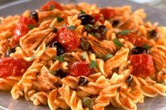 Fusilli with Tuna, Olives and Smoked Garlic - Sacla Italian Recipes