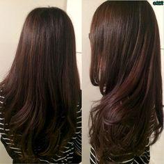 Chocolate Brown Hair #hairbymichlopez #fallhair #longhair #chocolatebrown #layers #longlayers #hair