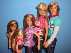 Barbie Family with newborn,kid,teen,mom,and dad