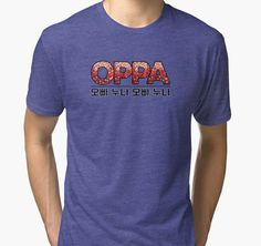Oppa 오빠 Korean-Inspired | Tri-blend T-Shirt